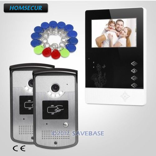 все цены на HOMSECUR 2v1 4.3inch Video Door Phone Intercom System With Real-time Outdoor Monitoring for Apartment онлайн