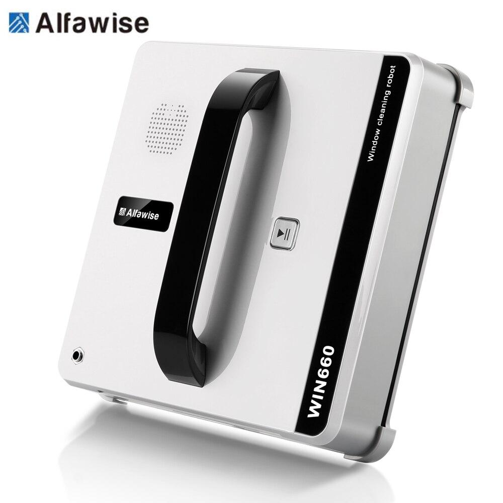 Alfawise WIN660 Finestra Robot Pulitore Aspirapolvere Intelligente Pulizia del Vetro Della Finestra Tipo Wifi App Controllo Previsto Robot 100-240 V