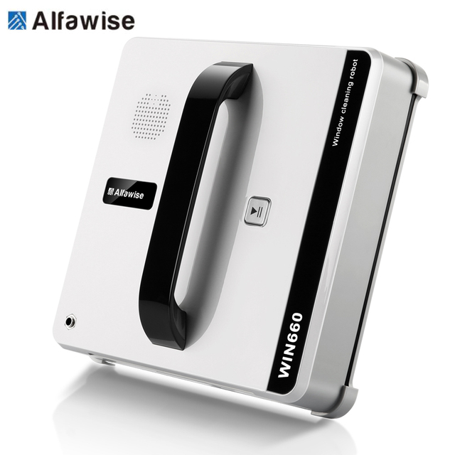 Alfawise WIN660 Robotic Window Cleaner Vacuum Cleaner Smart Planned Type Wifi App Control Window Glass Cleaning Robot 100 - 240V