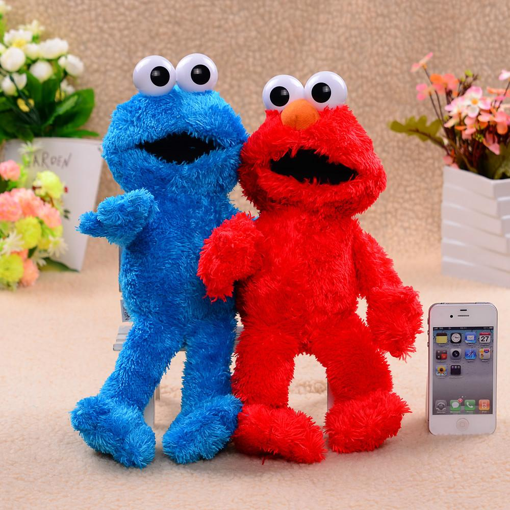 two pcs lot elmo and cookie monster sesame street 13 soft