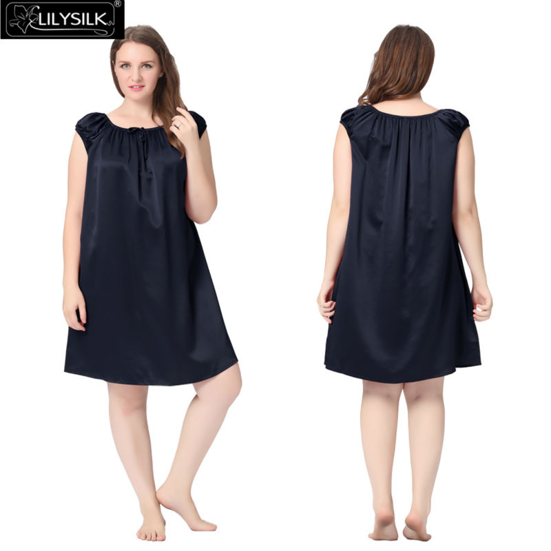 1000-navy-blue-22-momme-mid-length-silk-nightgown-with-tied-bust-plus-size-01