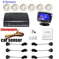 6 Sensors with LCD Parking Sensor Kit for rear and front Car Reverse Backup Radar System 12V Free Shipping 9 colors for option