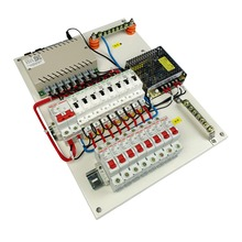Placa de distribuição disjuntor, casa inteligente, módulo de automação, controlador, sistema, interruptor remoto, caixa de distribuição, 2 fases, armário