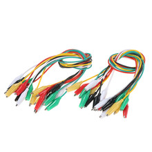 "20PCS Double-ended Alligator Clips Test Wire Insulated Leads Cable Wire 20""(China)"