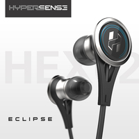 Wooeasy Hypersense Eclipse HEX02 Earbud Earphones Dynamic Flat Head Plug Metal HiFi Stainless Steel Earphone With