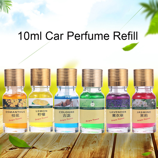 10ml Car Perfume Refill Air Freshener Multi-flavor Liquid Essential Oil Scent Replacement For Automobiles Indoor Smell Remover