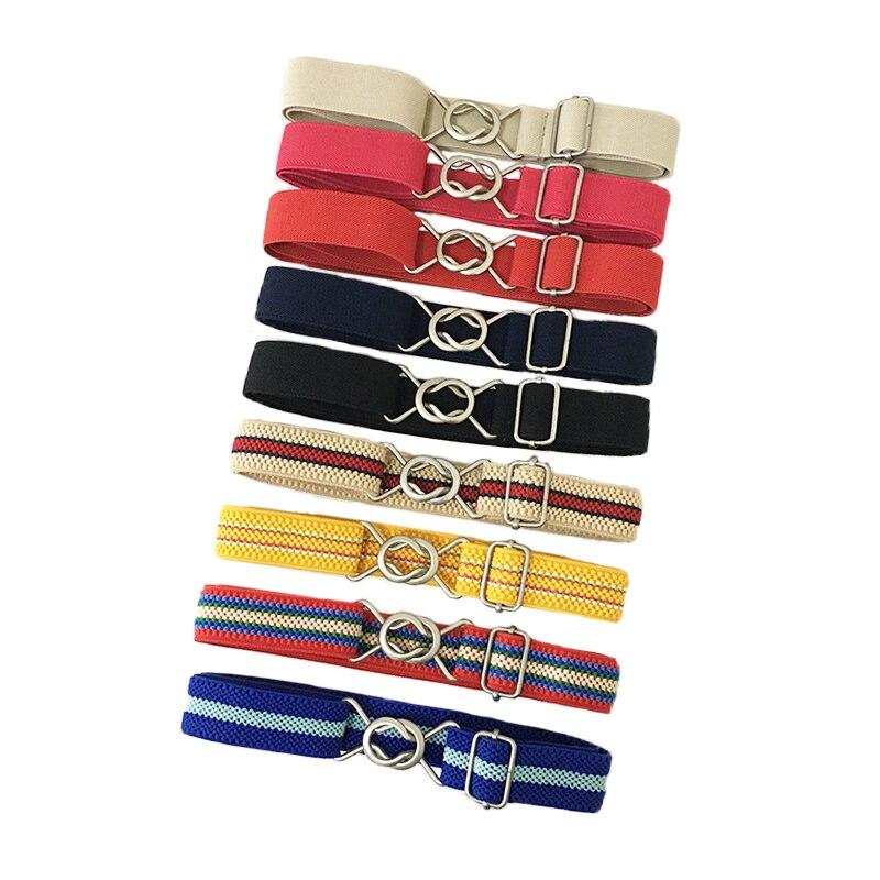 multi Candy Color Adjust Waistband Waist Belt Band for Kids Children