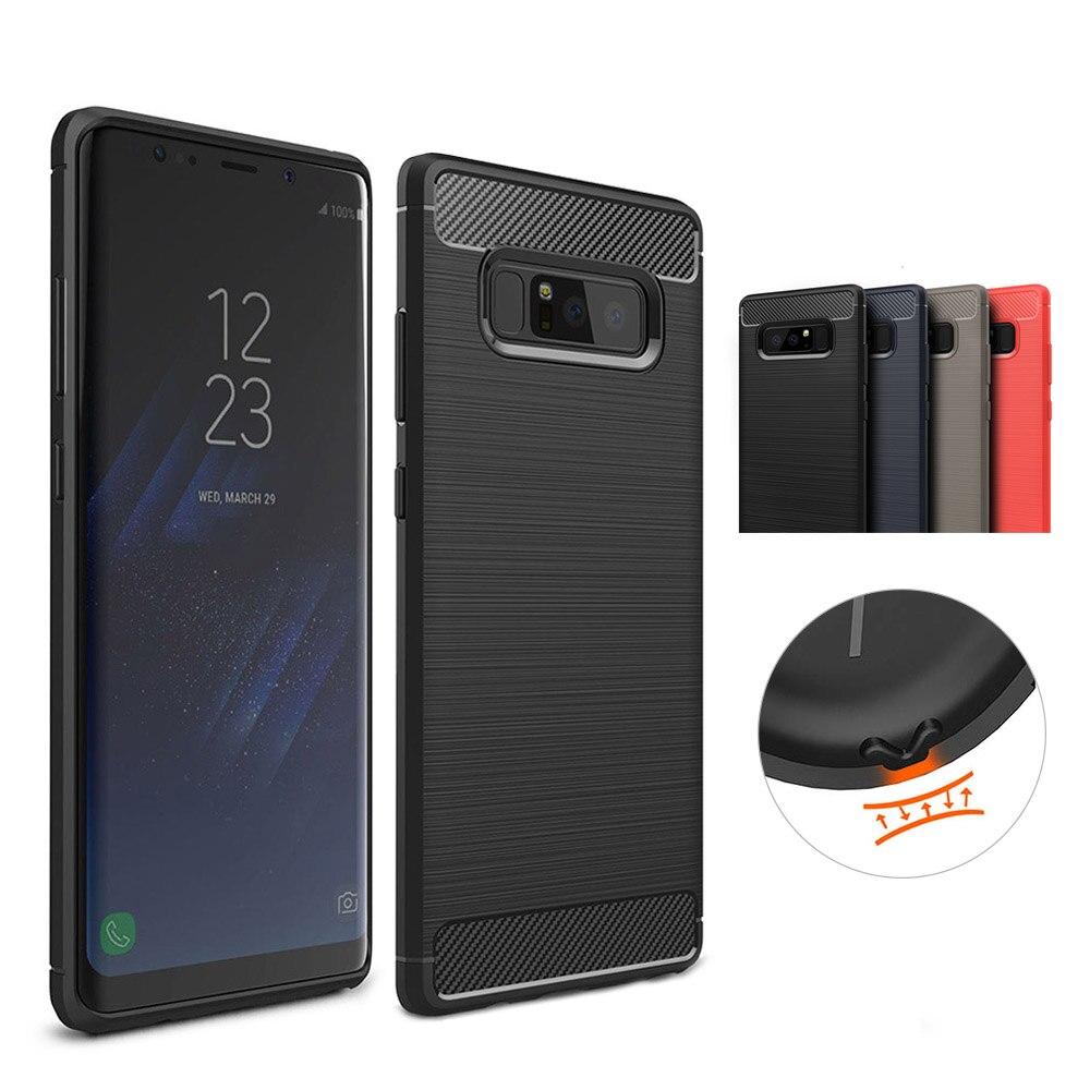 Новые Мягкие ТПУ резины силиконовый чехол для Samsung <font><b>Galaxy</b></font> Note <font><b>8</b></font> ультра-тонкий свет Вес удобные стороны сенсорный телефон задняя