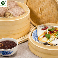 Bamboo Food Steamer Layer Double Boiler 27cm 3 tiers with 1 cover Food Steamer