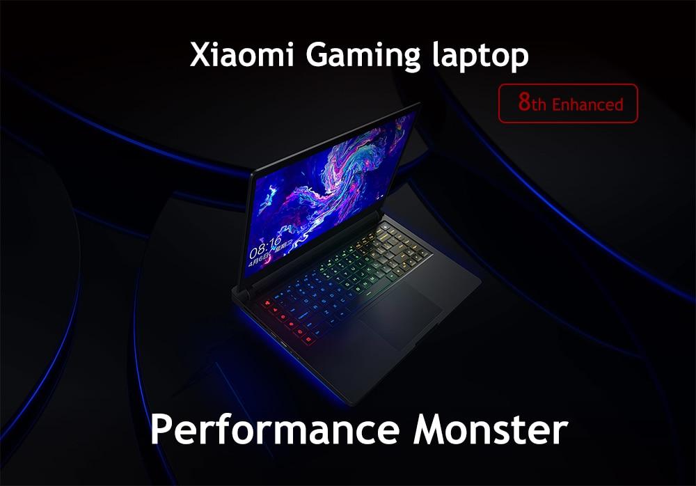 In Stock Original Xiaomi Gaming Laptop 15.6 inch Mi Notebook 8th Enhance SSD 256G+1TB Hexa Core 16GB 4.1GHz GTX 1060 Computer PC