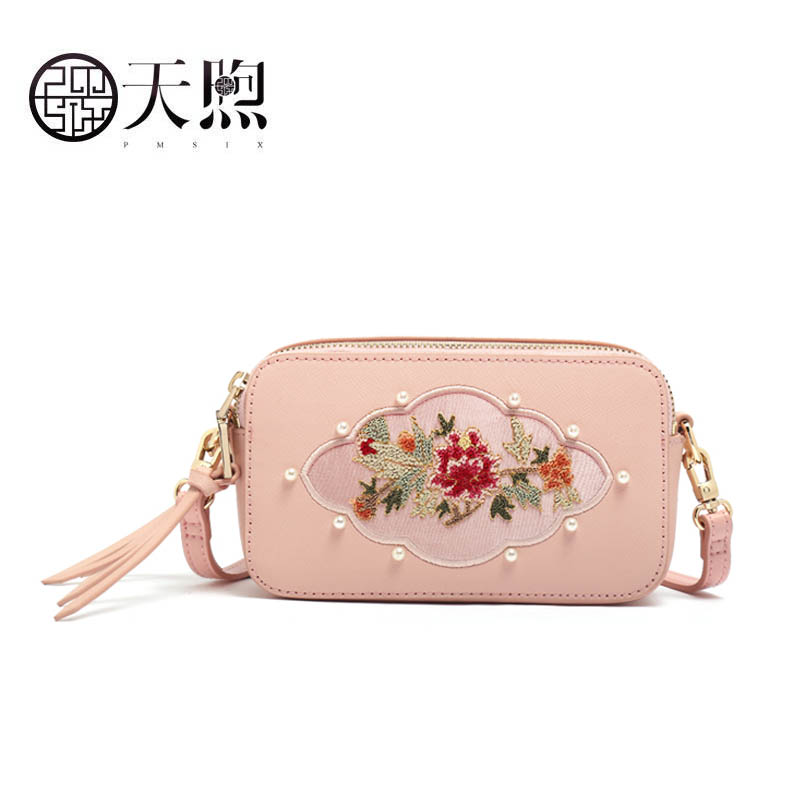 Pmsix 2019 New famous brand women handbags leather shoulder bags bag fashion Luxury embroidery mini small bag Pmsix 2019 New famous brand women handbags leather shoulder bags bag fashion Luxury embroidery mini small bag