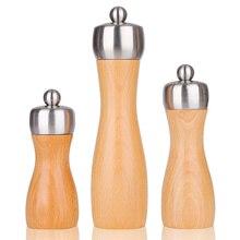 Mokithand буковая мельница для перца безопасная для пищевых продуктов из углеродистой стали мельница 5' 6' 8' деревянная мельница для соли и перца ручное движение кухонные инструменты