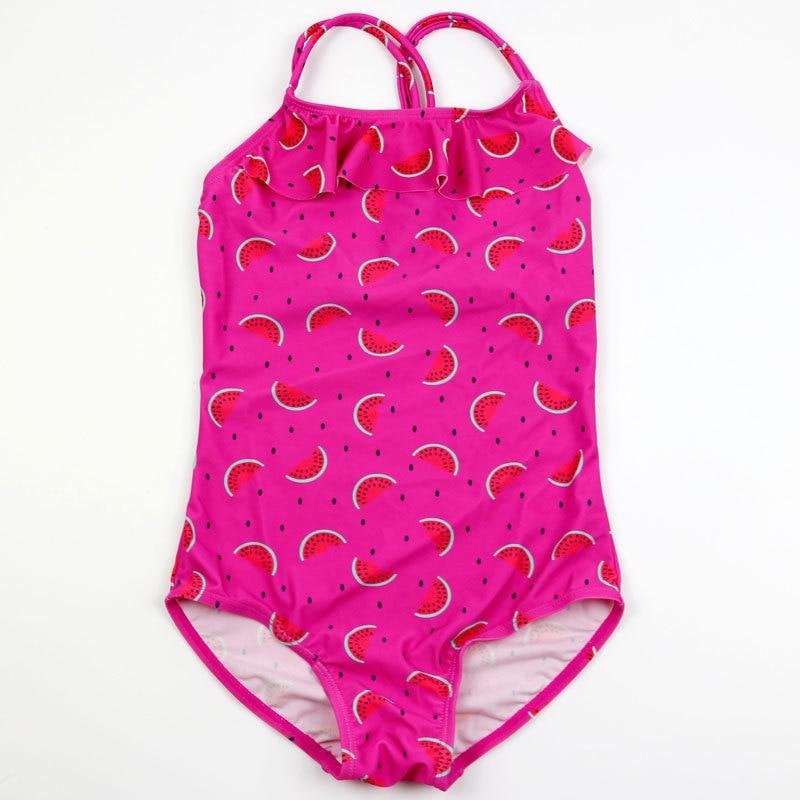 2018 New Girls One Piece Swimsuit Kids Swimwear Children Bathing Suit Baby Siamese Triangle Princess Summer Beachwear Wholesale