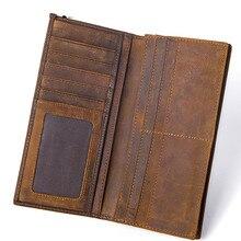 Клатч мужской кошелек Walet мужской кошелек-портмоне карты Crazy Horse мужской кошелек из натуральной кожи Клатчи