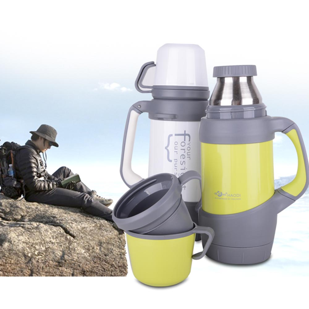 2016 ultra large capacity outdoors Vacuum tea cups 304 stainless steel office water thermos bottles 800ml