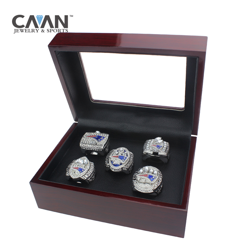 2017 Latest Official 4 Pcs Set New England Patriots Super Bowl Championship Ring Set 2001 2003