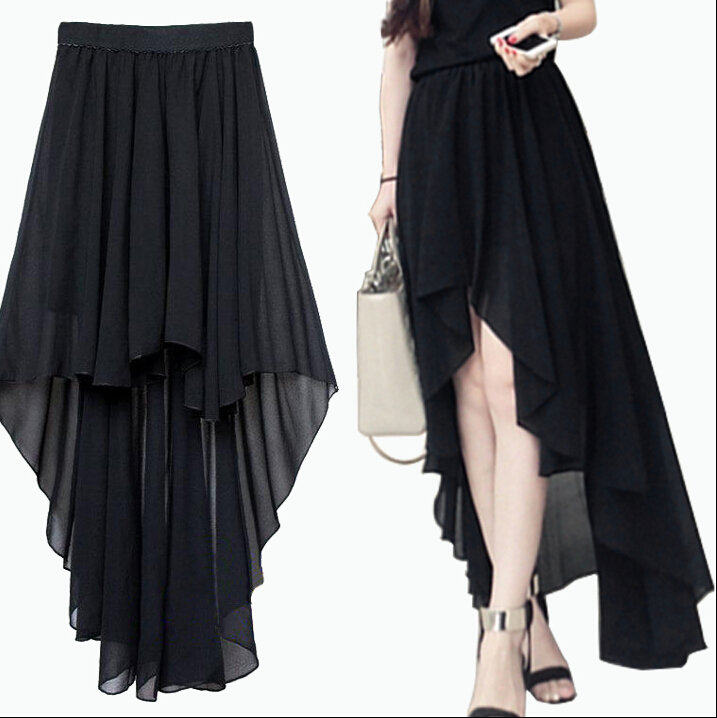summer plus size asymmetrical skirt a line skirt pattern