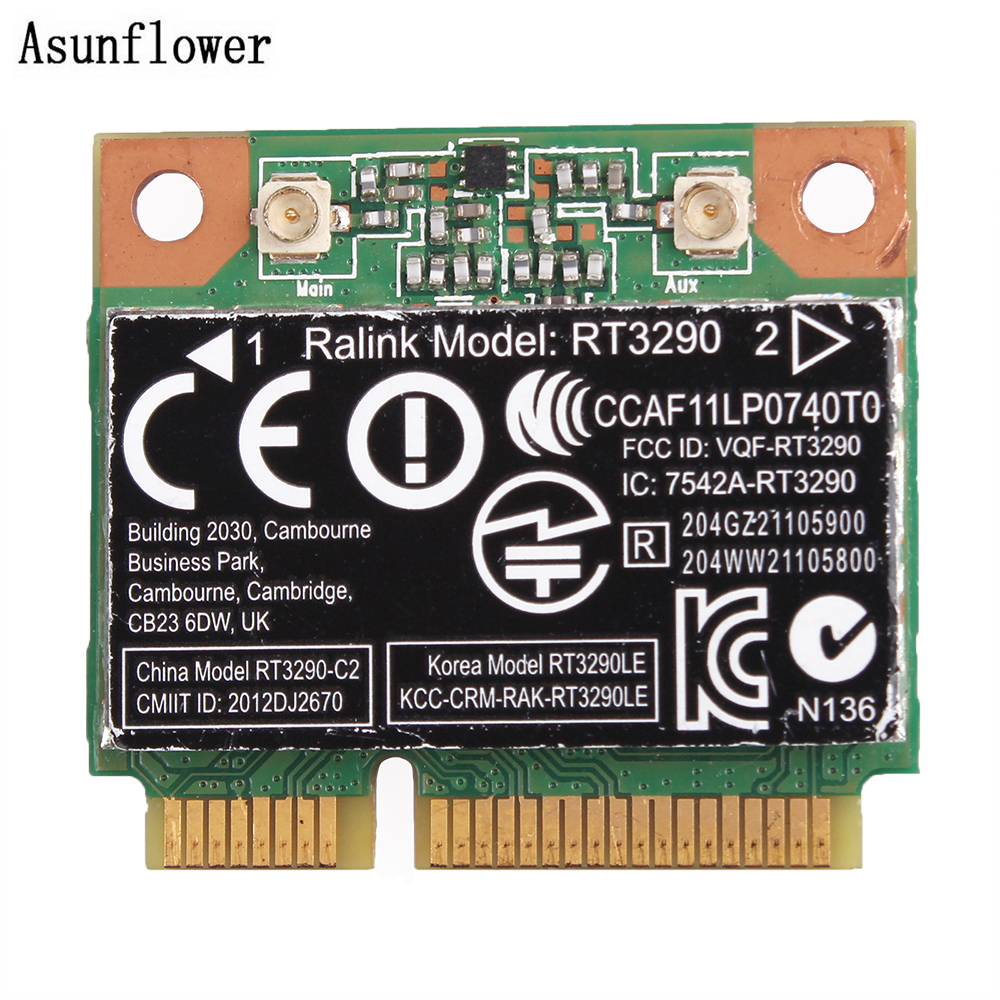 RT3290 802.11b/g/n 150Mbps Wireless Bluetooth Lan Half Mini Wifi CARD For HP Network Card