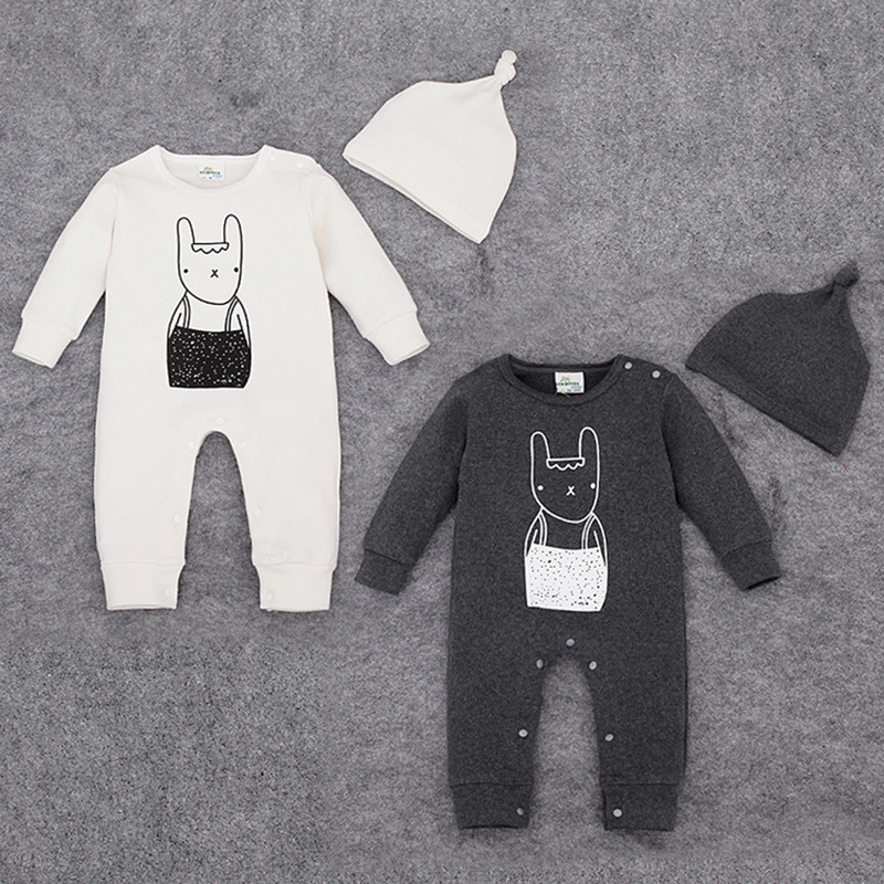 baby romper cotton newborn baby girl clothes Cute Cartoon Rompers with hat jumpsuit autumn baby romper long sleeve free shipping newborn baby rompers baby clothing 100% cotton infant jumpsuit ropa bebe long sleeve girl boys rompers costumes baby romper
