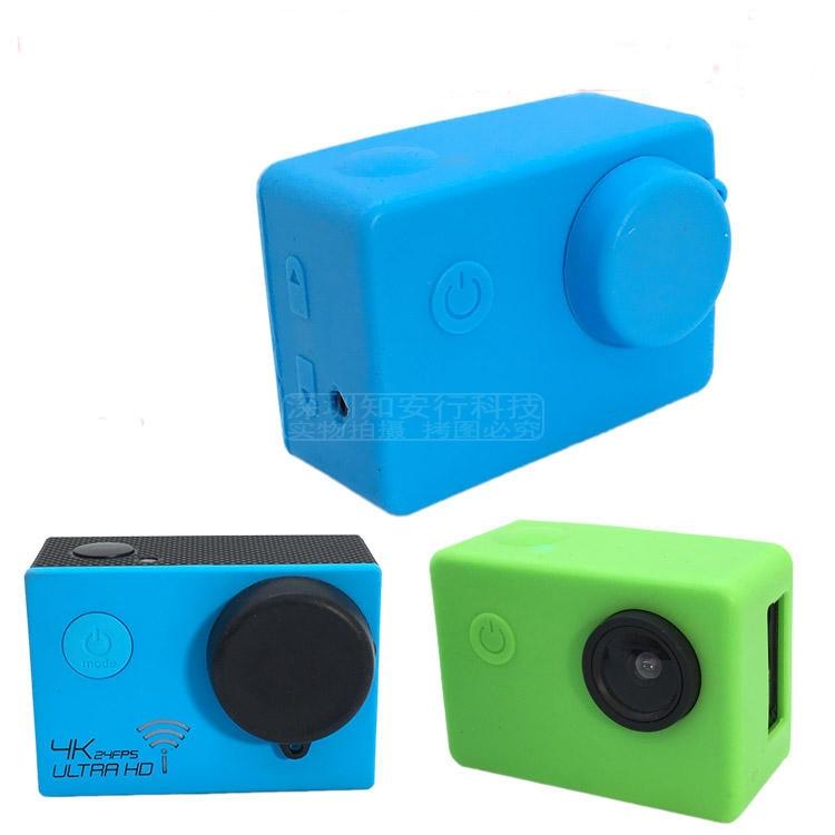 Silicone Cover With Lens Cap For Sjcam Sj4000 Sj5000 Protective Case Dirtproof Rubber Soft Bag Sport Action Camera Accessories