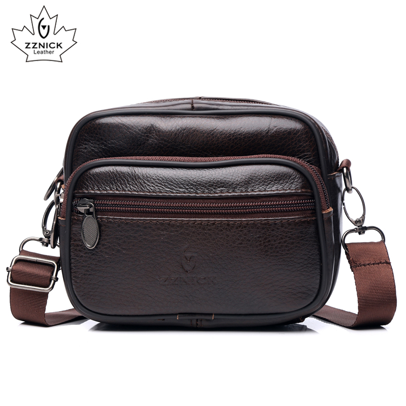 ZZNICK 100% Genuíno Saco De Couro Dos Homens Marca de Luxo Designer Messenger Bags Bolsas de Ombro Crossbody Bag Homens de Negócios Do Vintage Saco Masculino