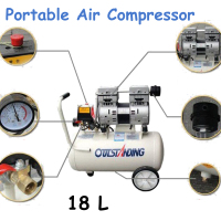 18L Portable Air Compressor 0.7MPa Pressure Air Pool Cylinder Economic Speciality Piston Filling Machine