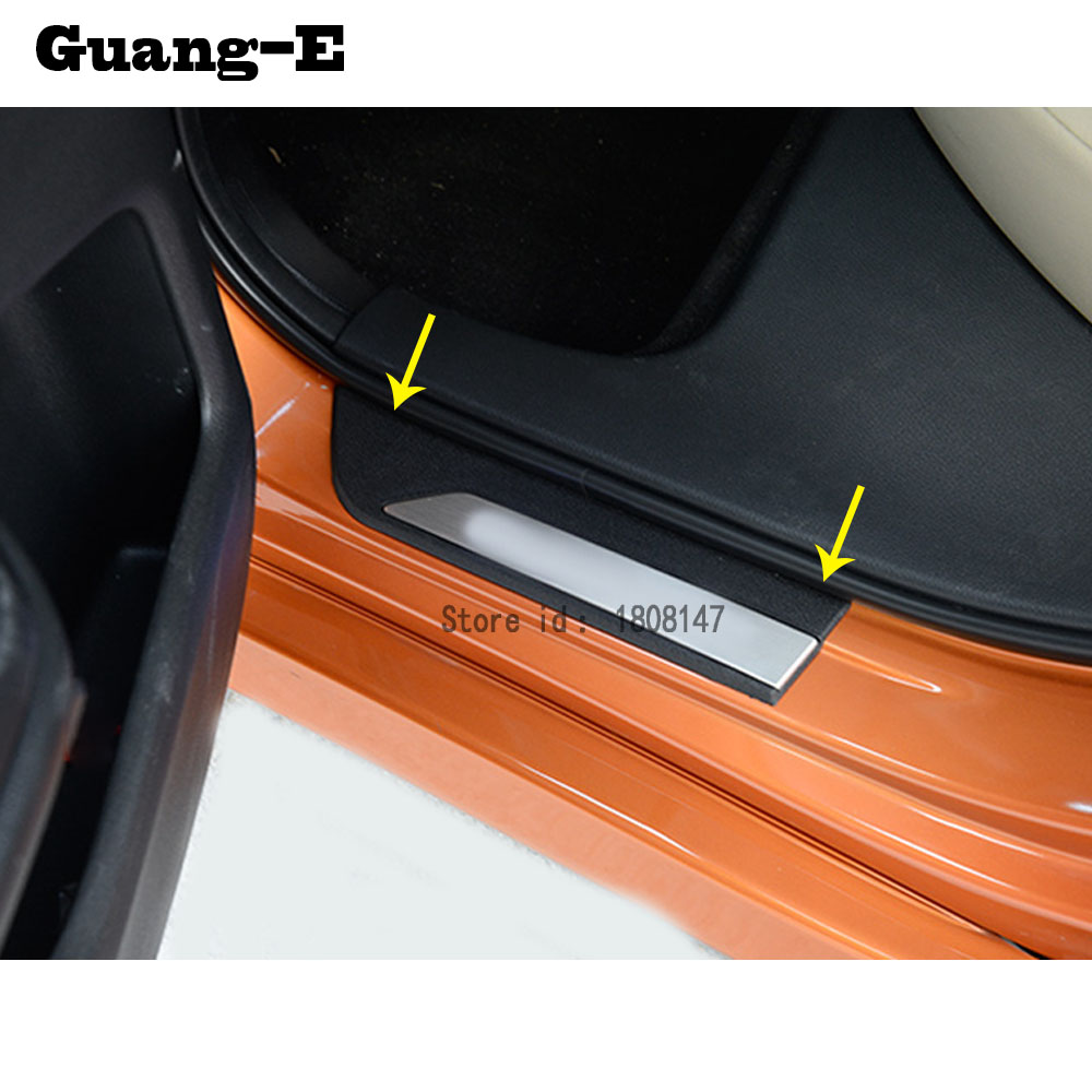 Fit For Honda Civic 2016-2018 Stainless Door Sill Scuff Plate Cover Outside 4Pcs