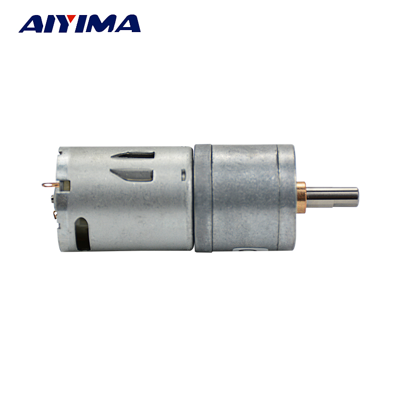25ga370 dc gear motor all metal gear high torque low speed for Low speed dc motor 0 5 6 volt