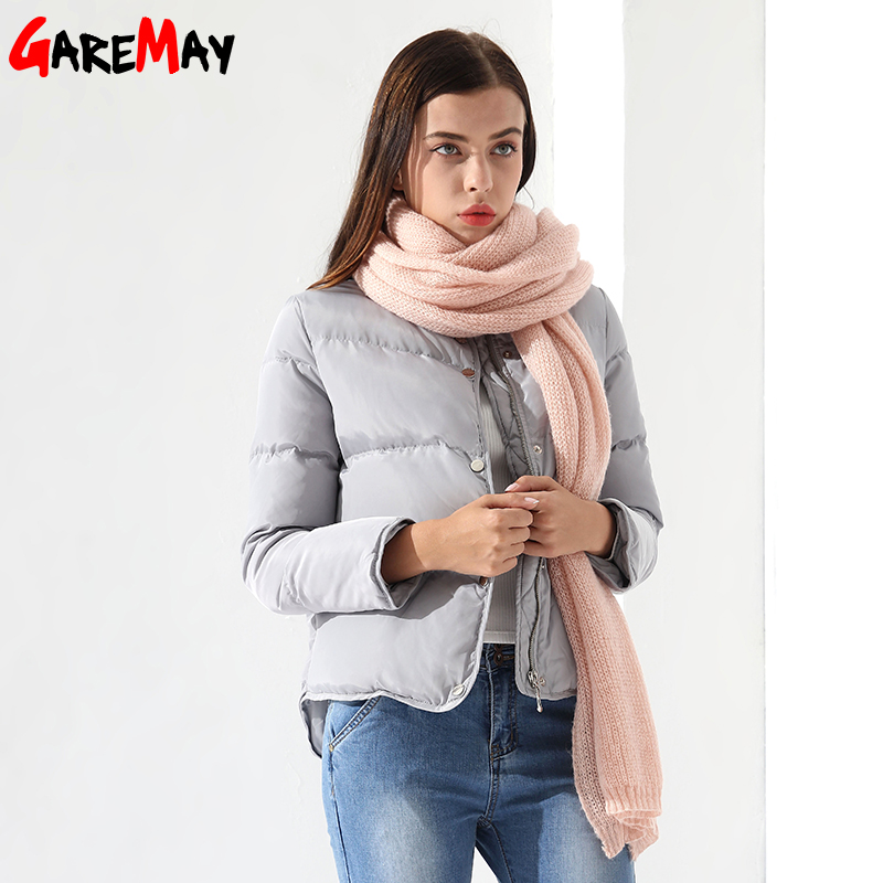 GareMay Official Store Для женщин Пух пальто женский жакет белый зимнее пальто Chaqueta Mujer Теплая верхняя одежда для Для женщин куртка Парка на пуху garemay