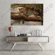 DIY Number Painting Leopard Animal Picture for Living Room Home Decorations Coloring by Numbers Painting by Yourself Customized недорого