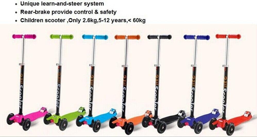 Gros haute qualité réglable hauteur trois roues Scooters enfants pied Scooters relevable ' enfants trottinette livraison gratuite