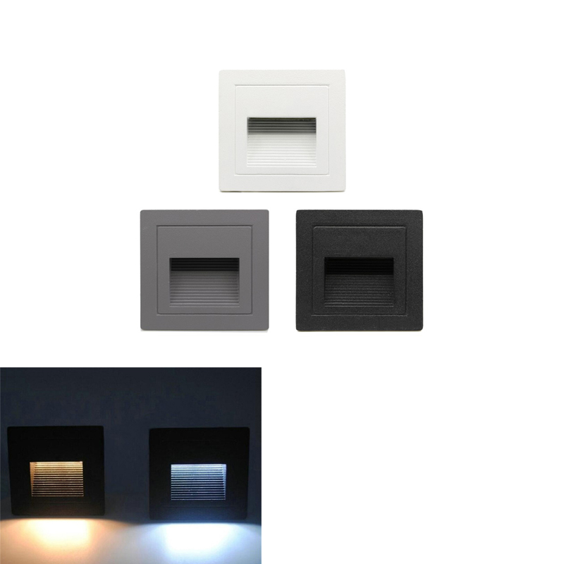 Waterproof Outdoor Led Stair Step Light 3w 5W Recessed Wall Corner Light LED Footlight Night Light For Landscape Pathway Step