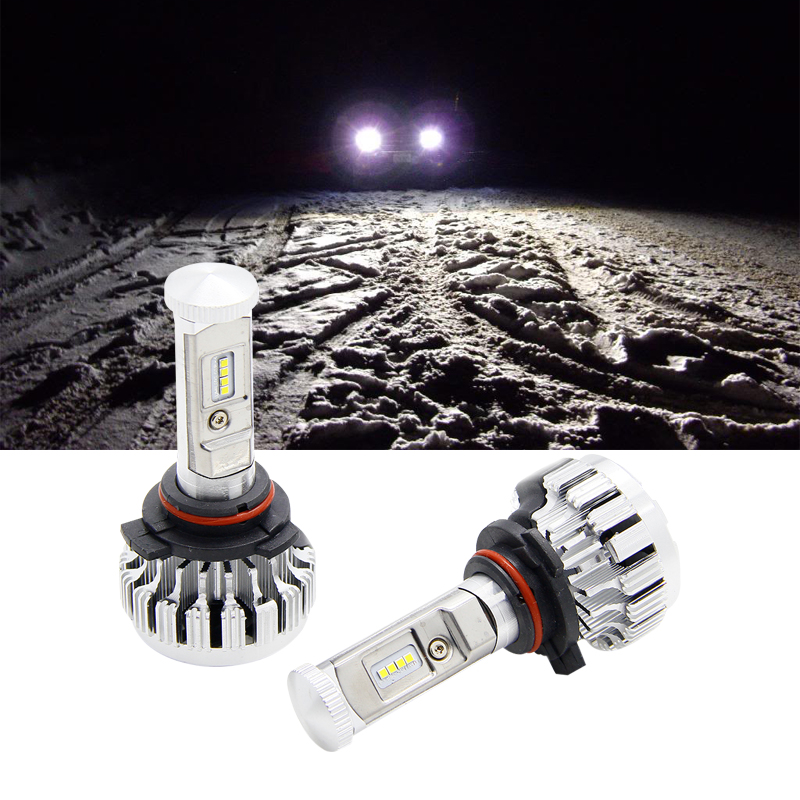 ФОТО Cree Chips LED 9005 HB3 120W 12000LM Bulbs For Ford/Nissan/Toyota/Hyundai/Land Rover/Tesla/Mitsubishi/GMC/Jeep/Mercury/Chevrolet