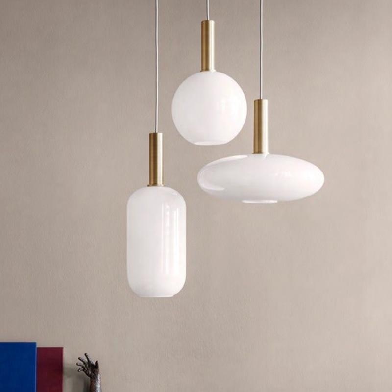 Black Gl Ball Pendant Lamp