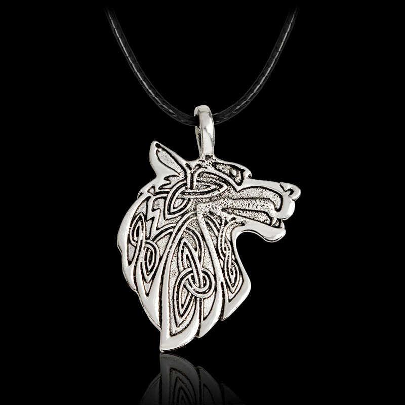 Викинг-Волк Орел норвежский викинг ожерелье для мужчин Norse Talisman оригинальные дикие мужчины мощность ювелирные изделия амулет