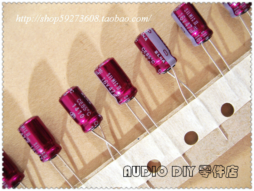 10pcs ELNA Purple Red Robe STARGET 100uF//16V Audio Electrolytic Capacitor