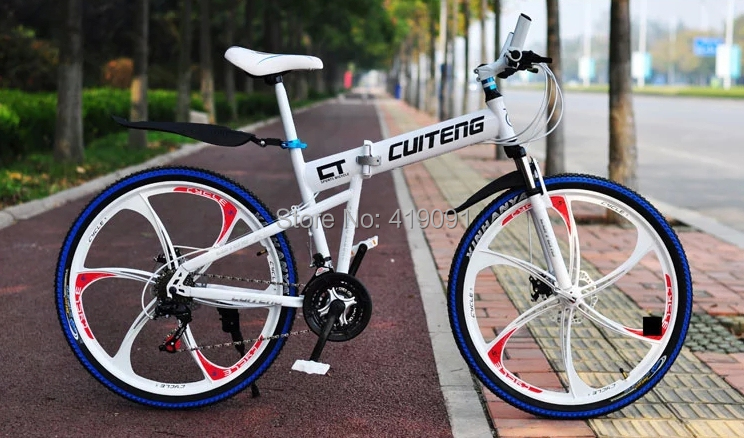 26 inches One Piece Wheel / Spoke Mountain Bike Bicycle Aluminum Alloy high-carbon steel Double Disc Folding - SHANGHAI KWAN TUNG COMPANY store