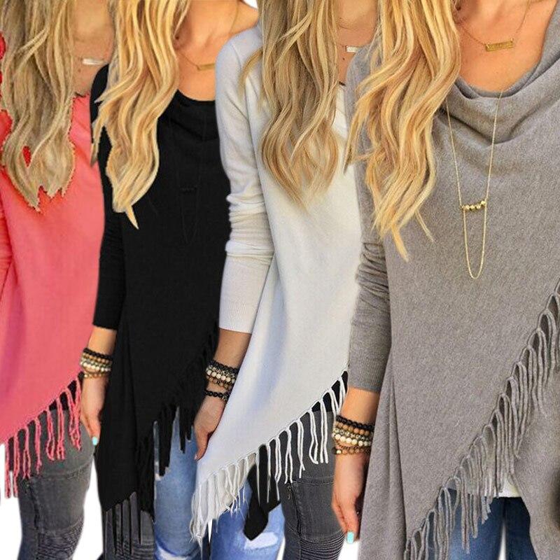 New Fashion Spring Autumn Style Women Ladies Vintage Slim Coat Fringed Jacket Slash Coats Tops
