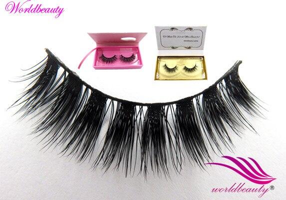 Free shipping  New style 100% regular soft lilly nature Real Siberian mink fur WB09 false strip eyelashes 5 pairs/lot