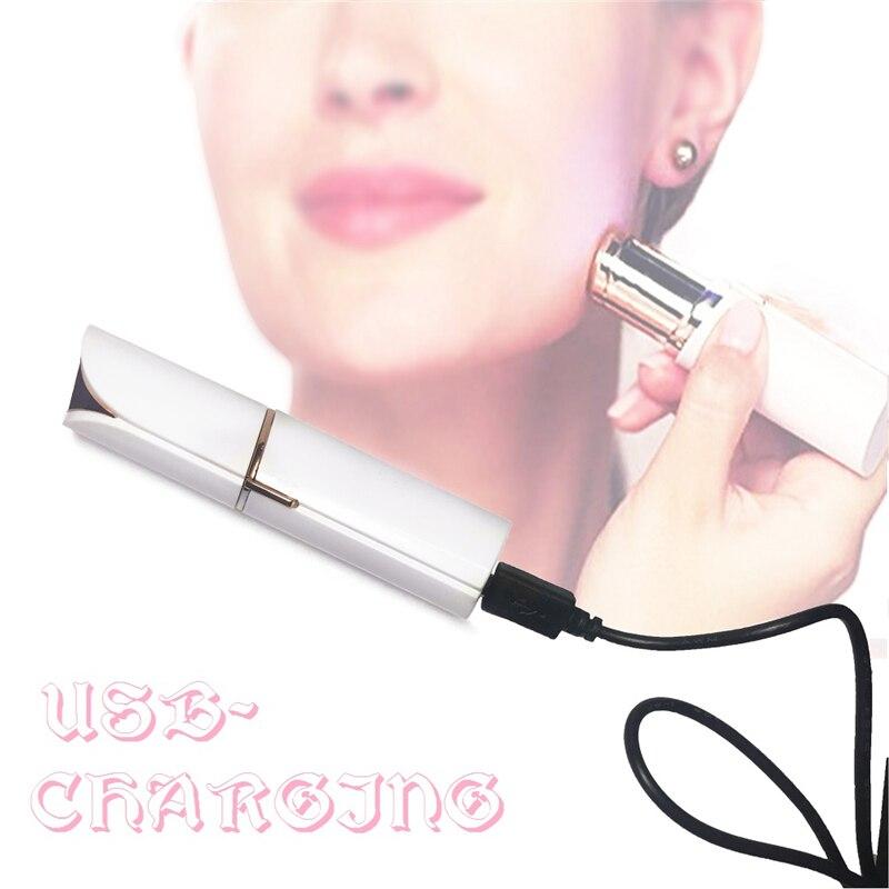 USB Rechargeable Cheveux Remover Pour Les Femmes Machine Professionnel Corps Visage Épilateur Mini Sécurité Rasoir Visage Maquillage Outil