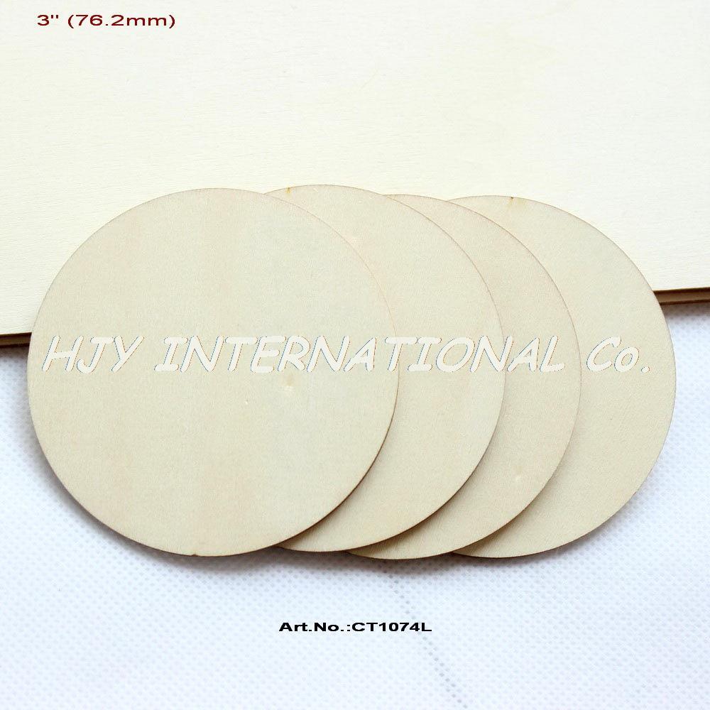 20 unids/lote) 76mm inacabado madera círculo Colgantes rústico ...