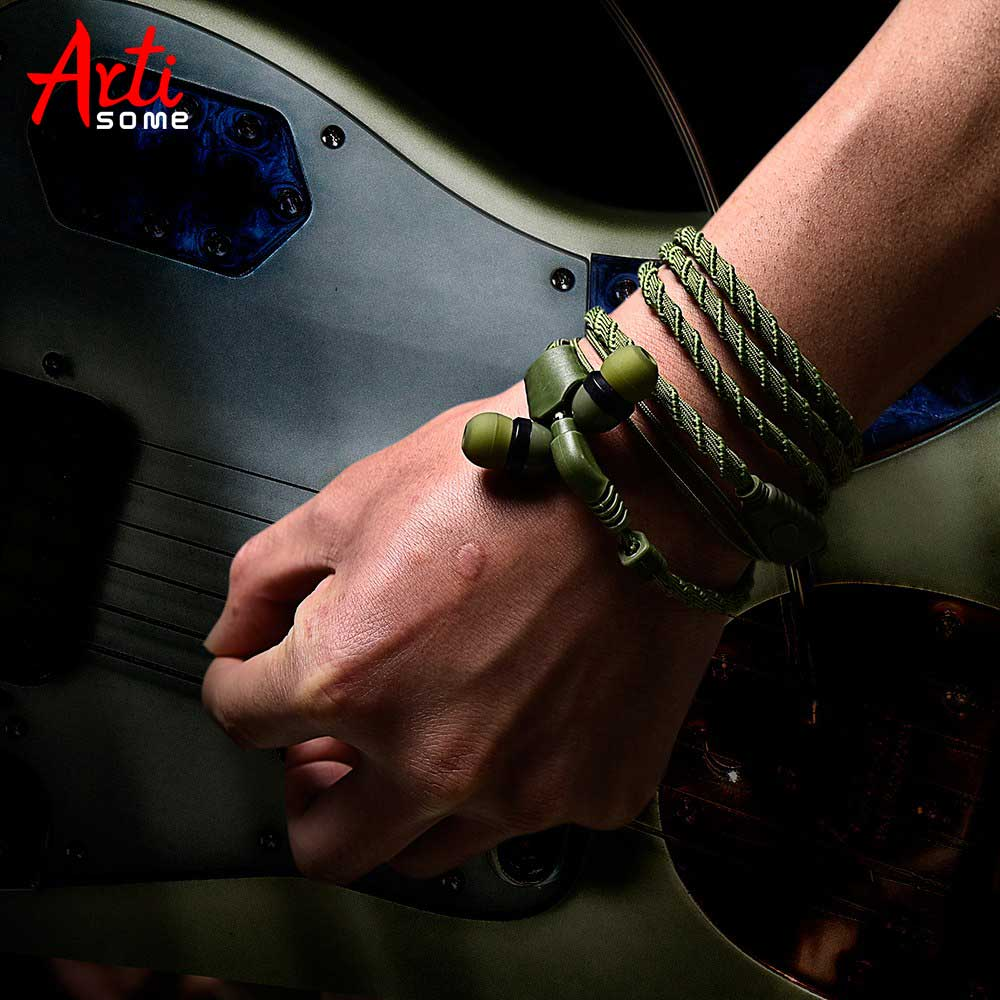 Artisome 3.5mm Bracelet Headphone With Microphone Fashion Wired Headset Headphon