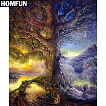 "HOMFUN Full Square/Round Drill 5D DIY Diamond Painting ""Dream Tree"" Embroidery Cross Stitch 5D Home Decor Gift A03761"
