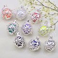 10Pcs Assort Color Sound Ball Cage Pendants For Women-to-baby