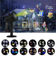 LED Light Projector Waterproof Landscape Spotlight Outdoor And Indoor Lights With 12 Interchangeable Slides For Party