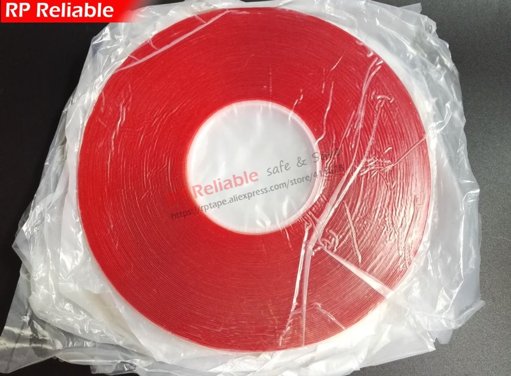10 Rolls 0.5mm Thick, (4mm X 33Meters) Clear VHB Double Sided Acrylic Foam Tape for Glass Car Panel, Edge Seal 0 5mm thick 5 rolls 8mm 33meters transparent double adhesive acrylic glue tape for car strip glass joint