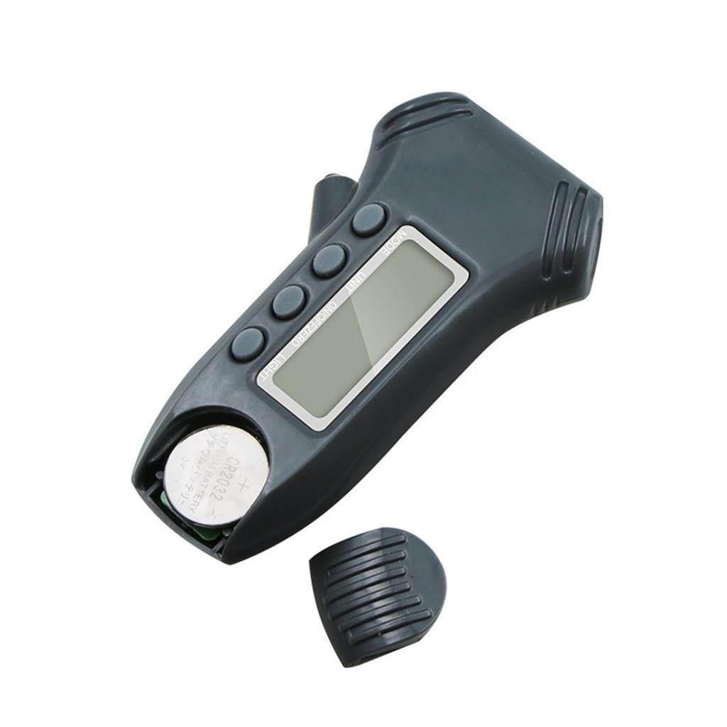 ILS 2 in 1 Mini Electronic Digital Display Tire Gauge Keychain Automobile High Precision Tread Depth Tire Pressure Gauge