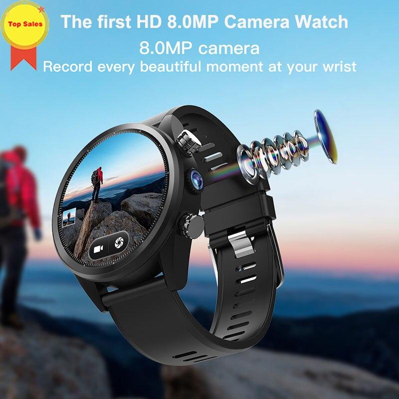 2019 nouvelle montre intelligente Android 8MP caméra MTK6739 3G + 32G 1.39 ''AMoled carte sim GPS montre sport hommes 4G WIFI montres intelligentes d'affaires