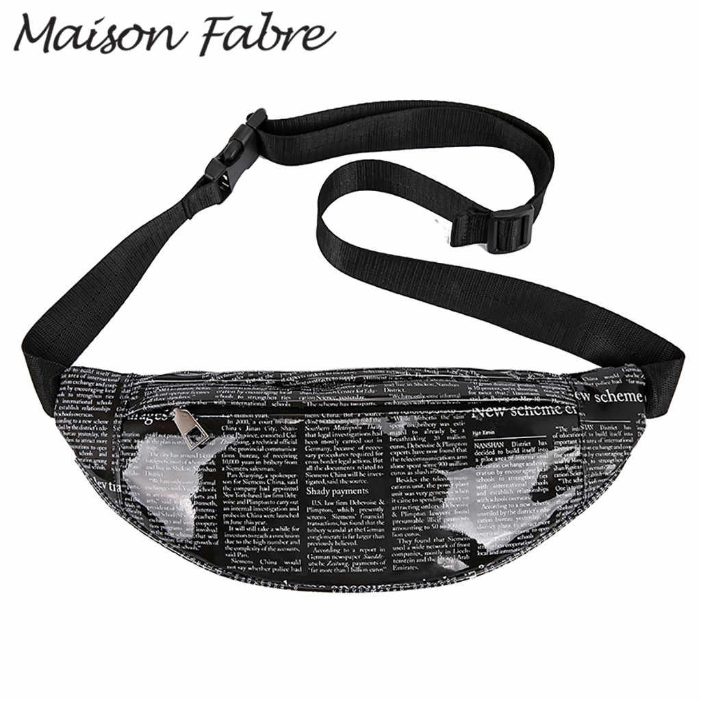 Maison Fabre Bag men women PVC Chest bags zipper print shoulder bag Straps waterproof handbags 2019 Summer Ladies small handbags