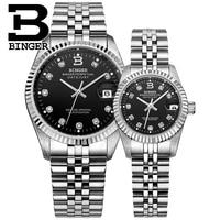 Switzerland BINGER Watch Men Women Automatic Mechanical Mens Watches Luxury Brand Sapphire Reloj Hombre Lovers Wristwatch